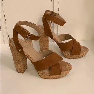 Strappy Suade Brown Lakita Heels